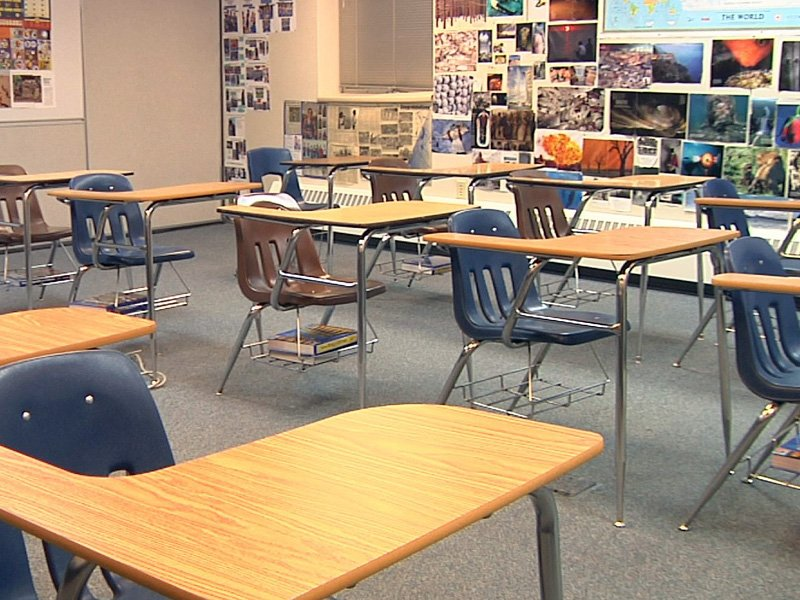 empty classroom parker, turner county school sentinel bill discussion guns in schools weapons in schools education