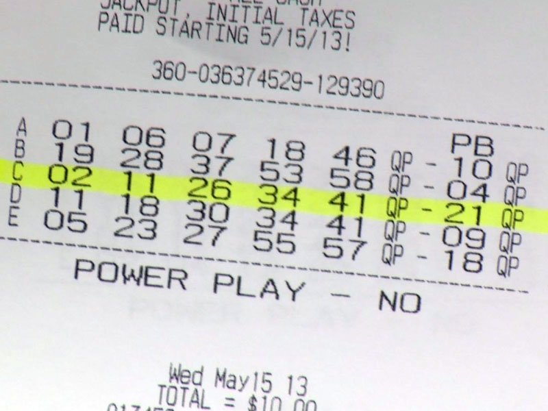 Sioux Falls Powerball Million Dollars Lottery Ticket