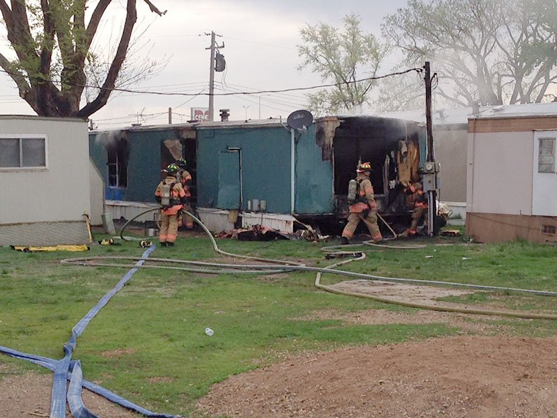 mobile home fire trailer 12th street 12