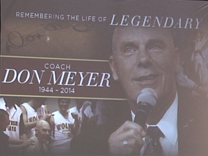 Memorial service was heal in Aberdeen to remember the life of legendary coach Don Meyer.