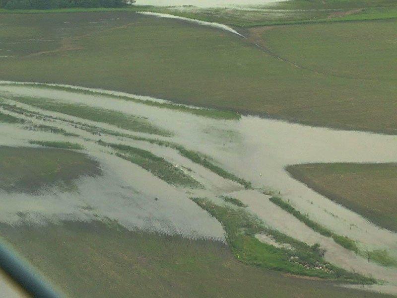 flooding June 16 storm aerials