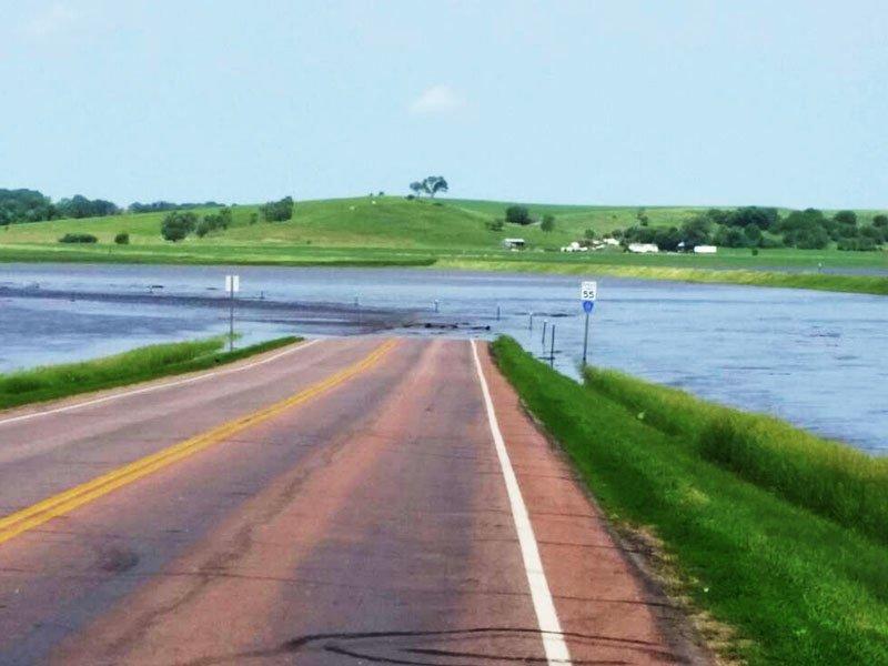 hawarden, iowa flooded road