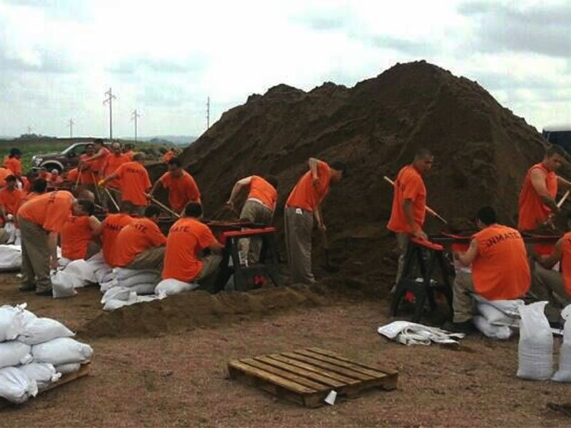 inmates sandbags union county flood concerns