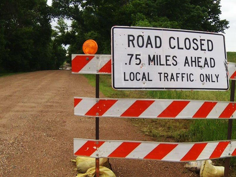 road closed flooding june 18