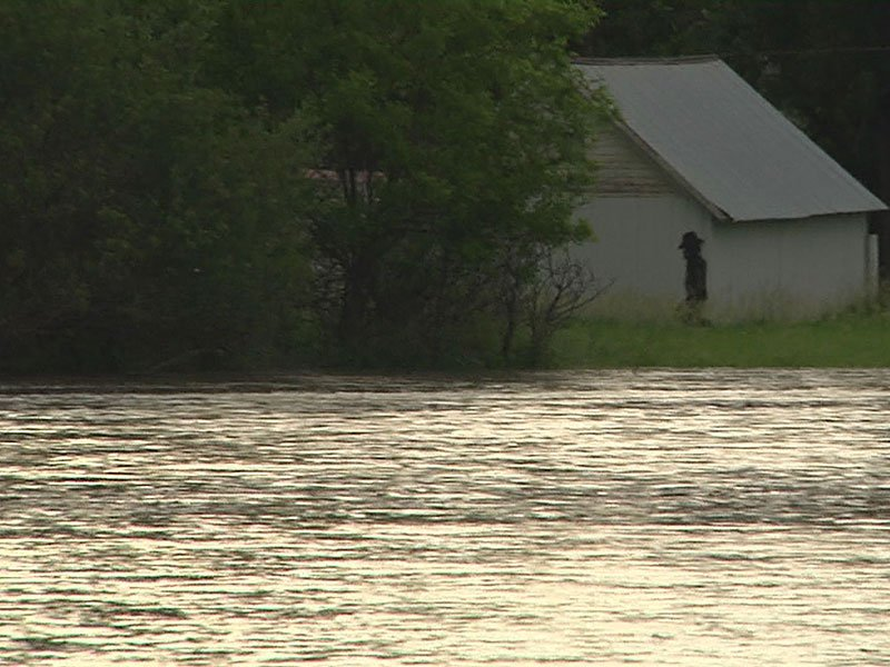 Missouri River flooding near north sioux city