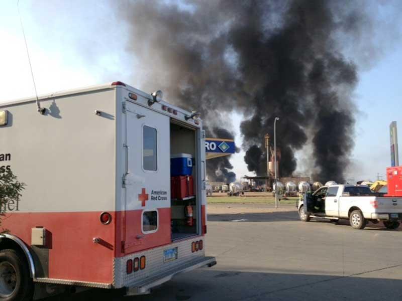 williston explosion red cross