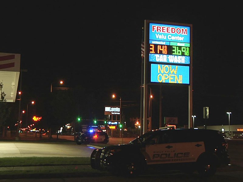 Freedom gas station robbery clerk hit
