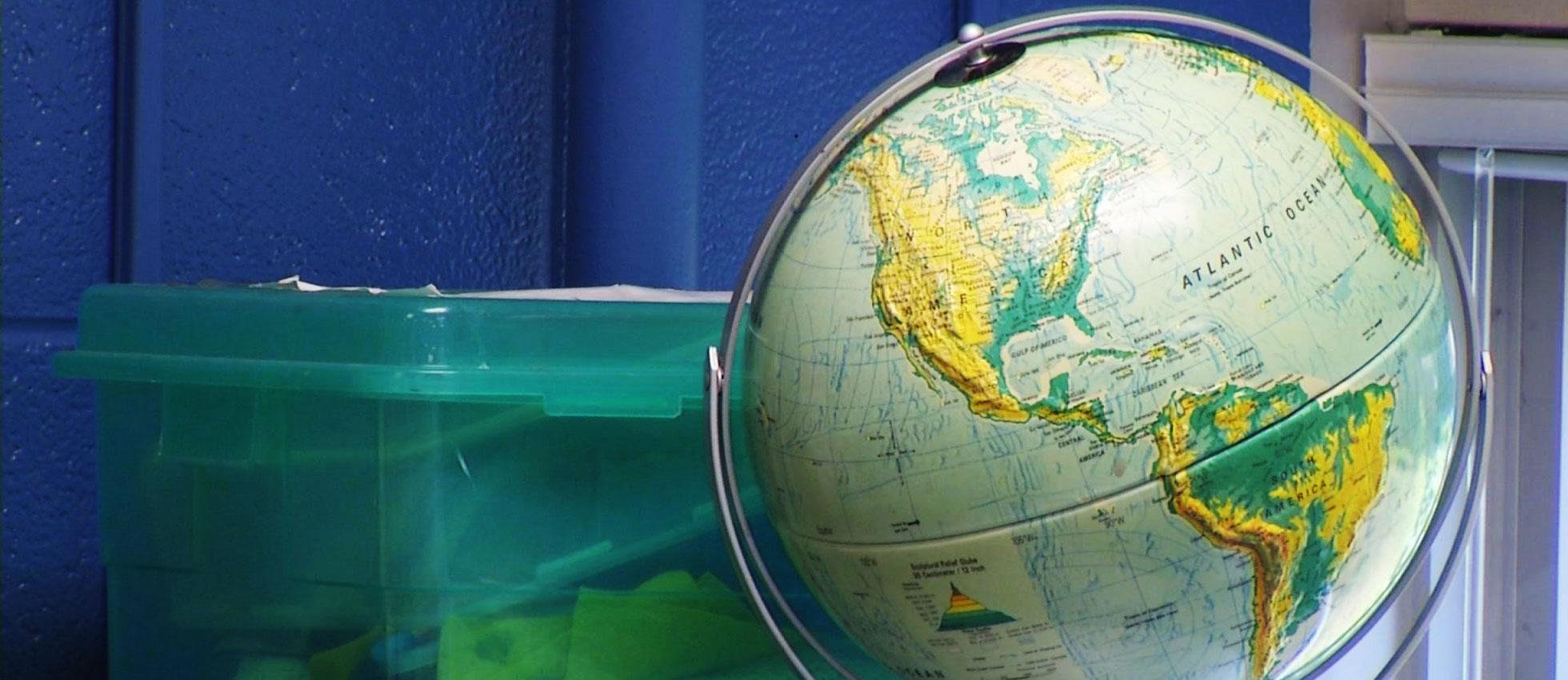 teacher classroom globe