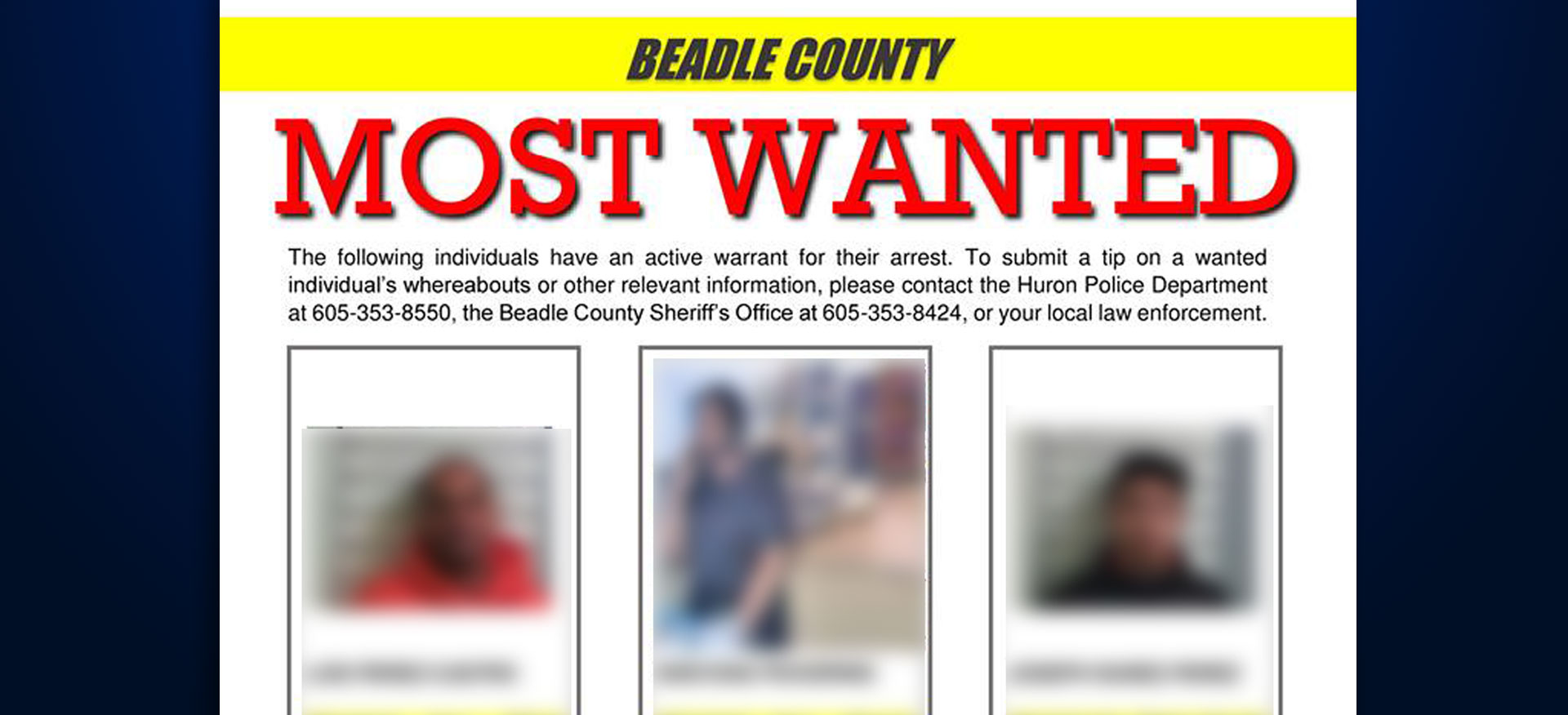 most wanted Beadle County