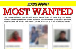 Beadle County Shares Most Wanted List