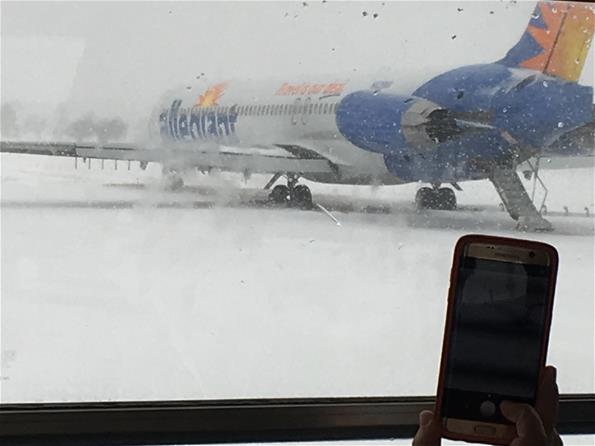 Allegiant plane off runway