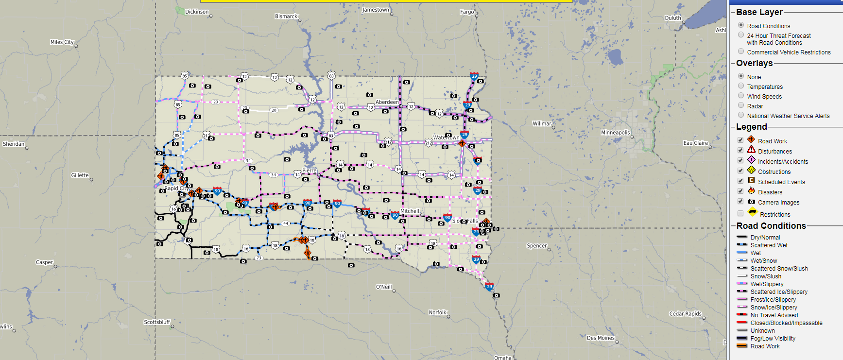 Road Conditions Across South Dakota