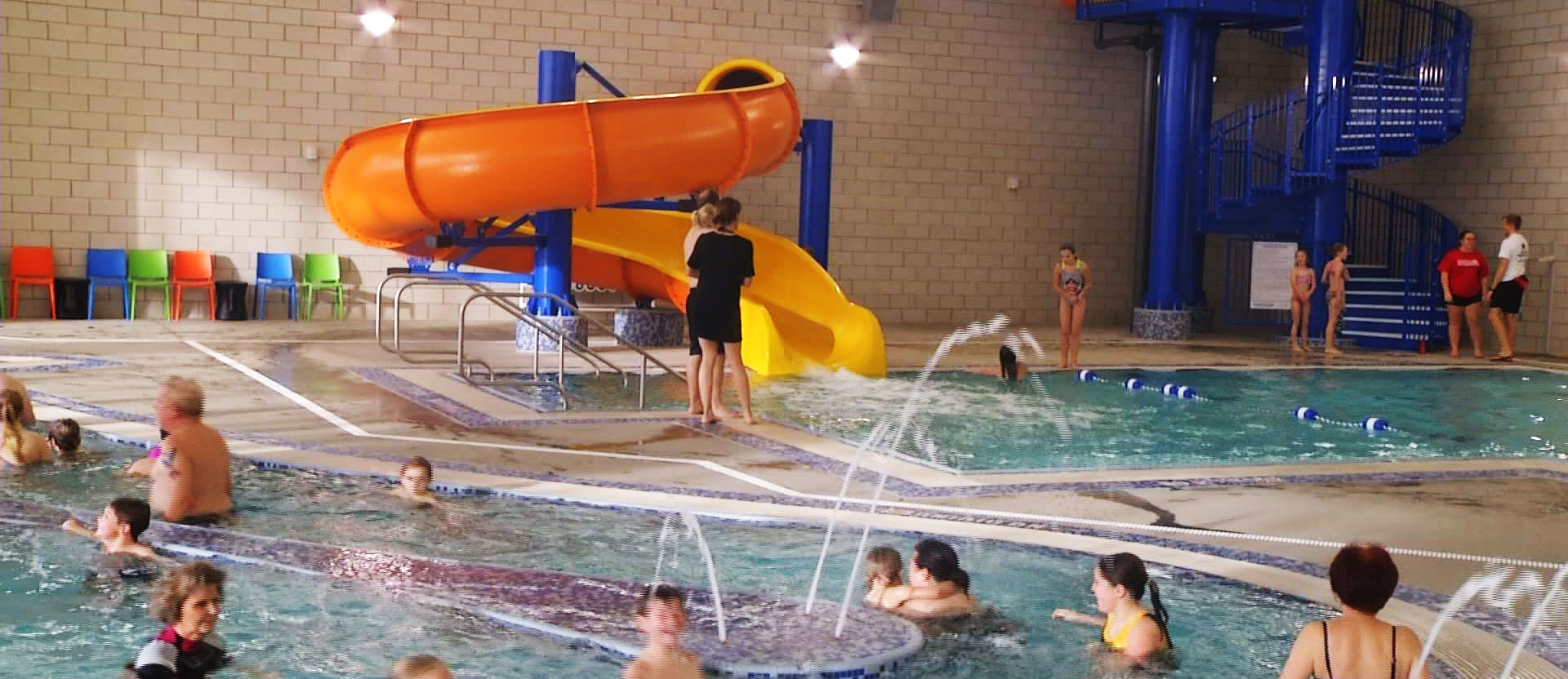 Visitors Testing Out Aquatic Center During Break