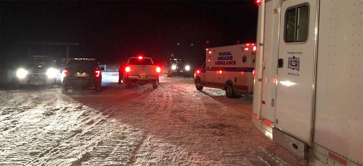 Snowmobile Rescue Courtesy: Pennington County Search and Rescue
