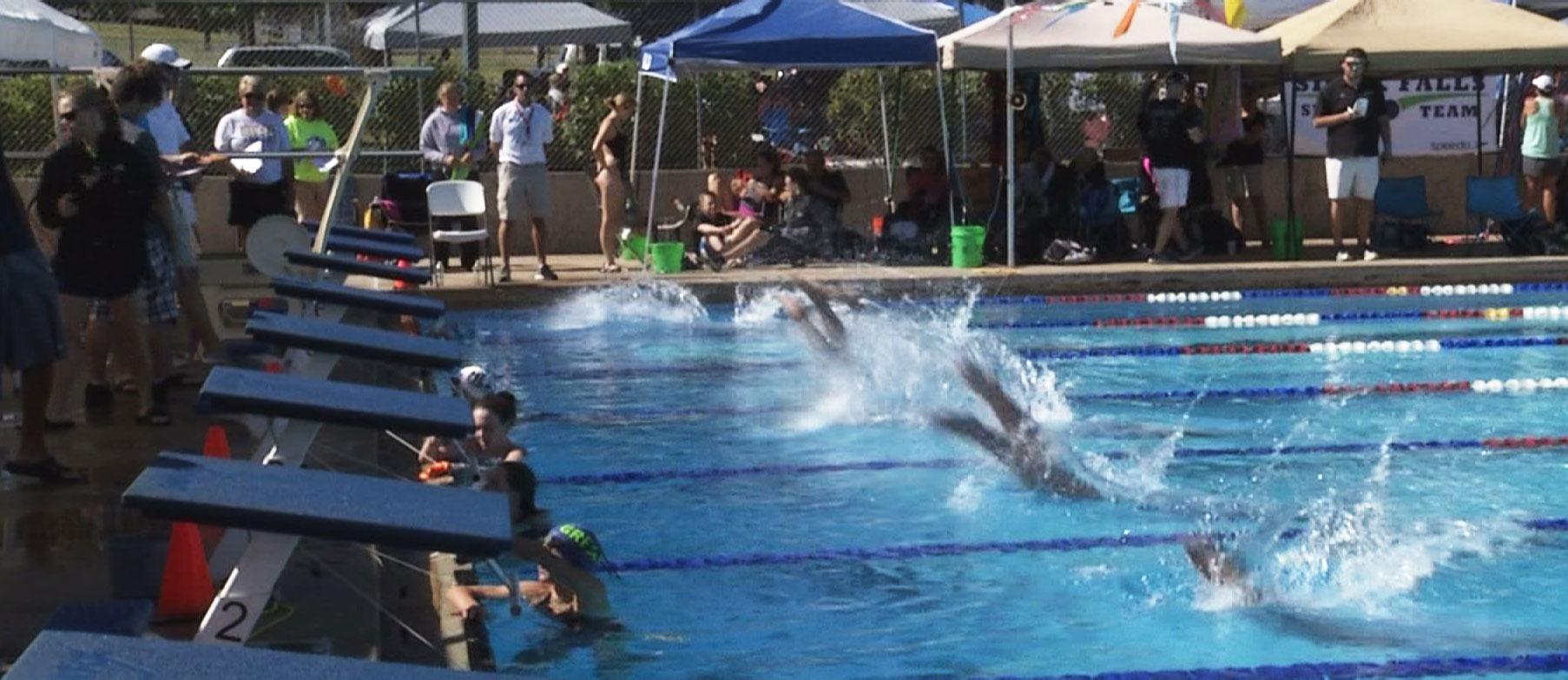 Sf Swim Team Hosts First Meet
