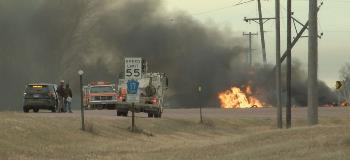 Tanker Fire Semi Crash Marion Monroe
