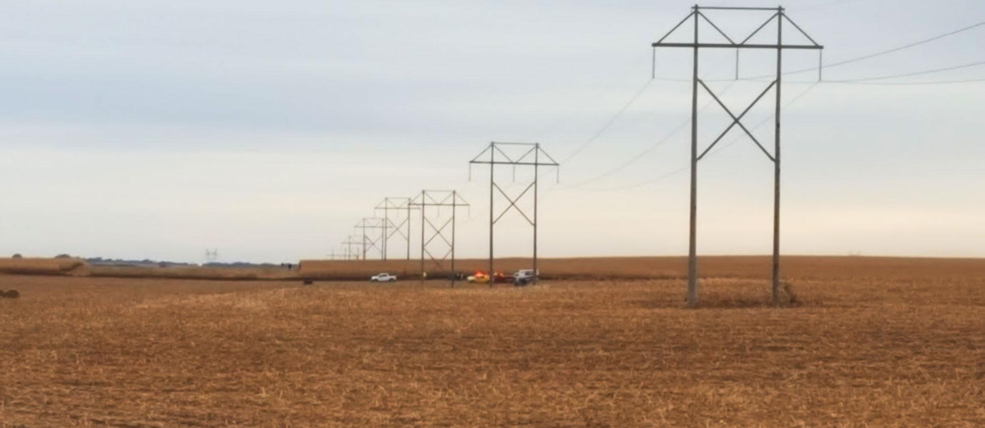 Courtesy KIWA helicopter crash West Lyon Iowa