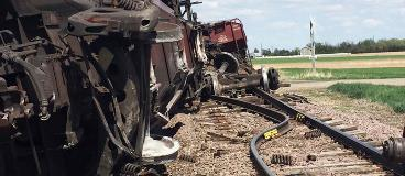 Train derailment near Bath South Dakota
