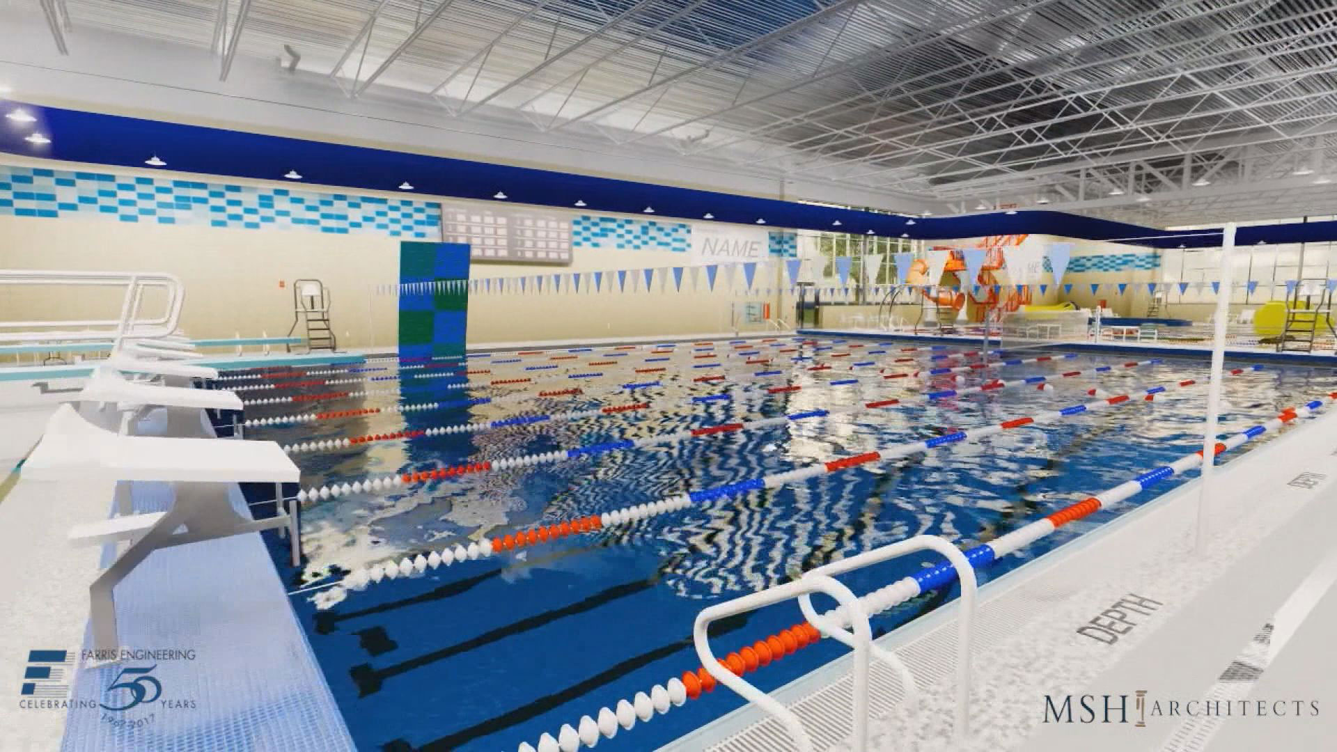 proposed Mitchell aquatic center