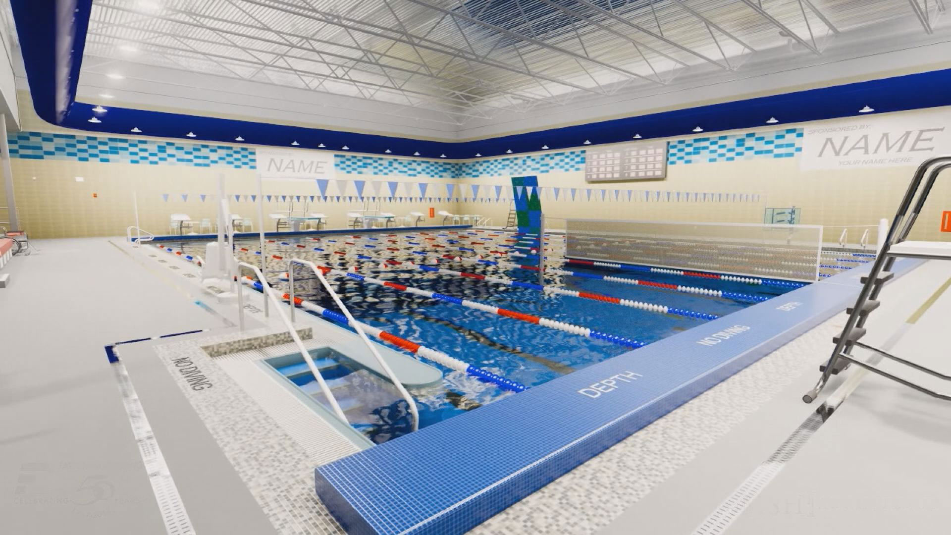 lap pool area proposed Mitchell aquatic center