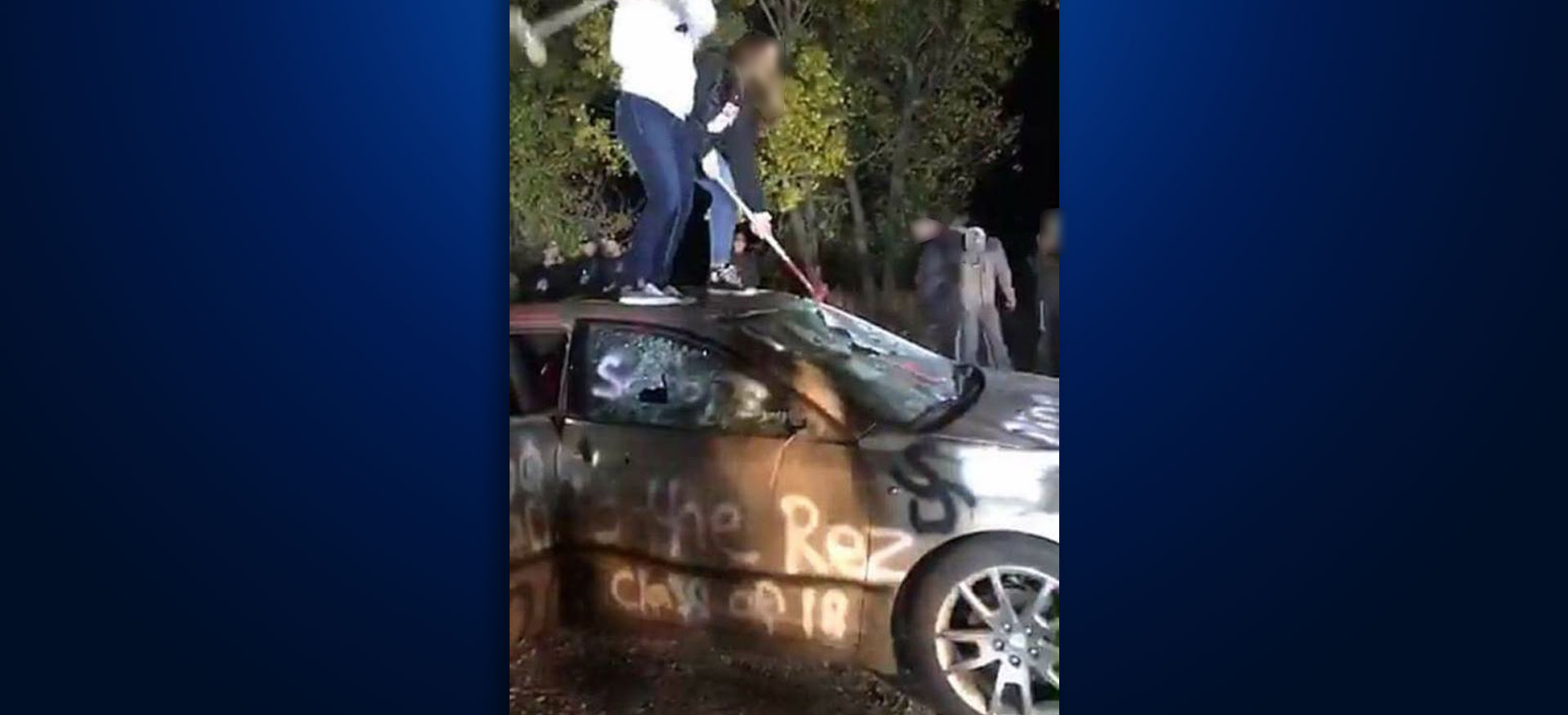 car bash Sturgis Brown High School