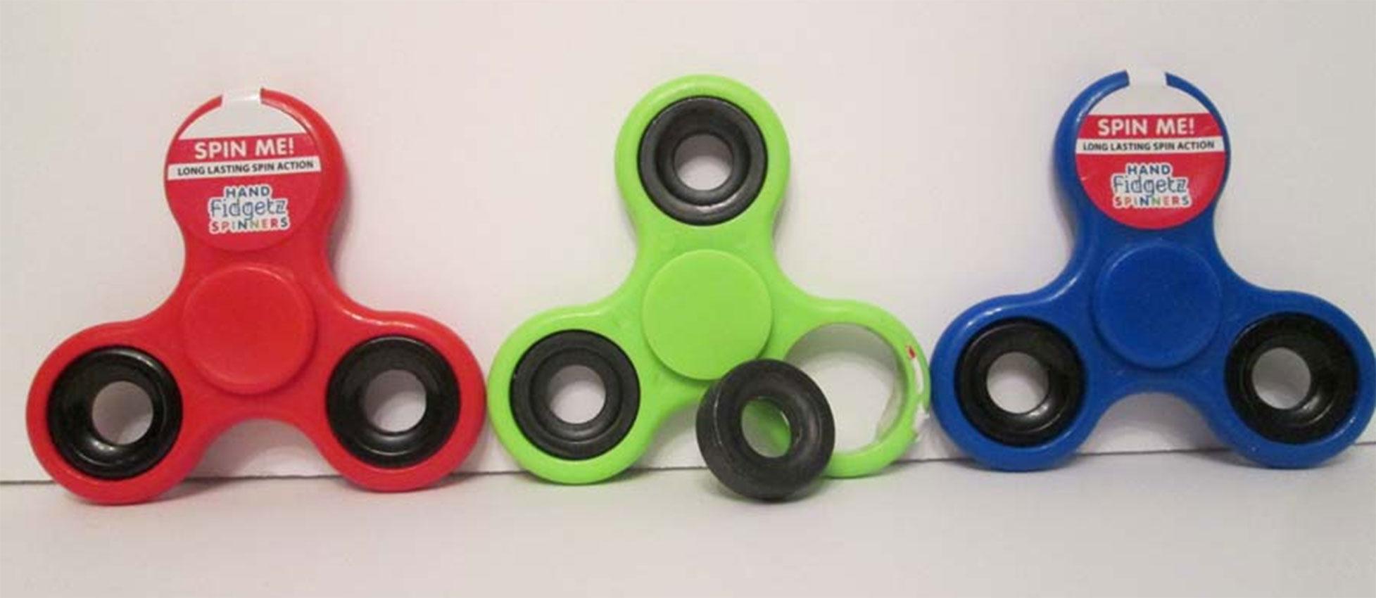 Fidget spinner toy choking danger