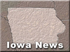 map of Iowa with words:Iowa News, on it