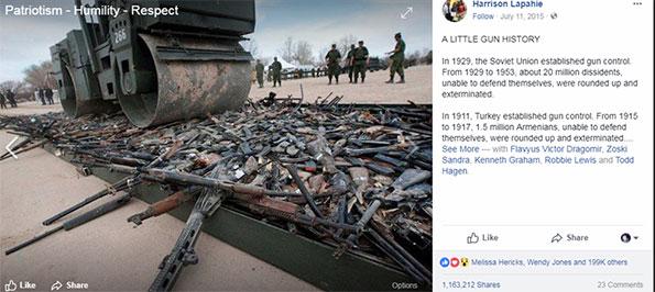 Real Or Fake history of guns Harrison