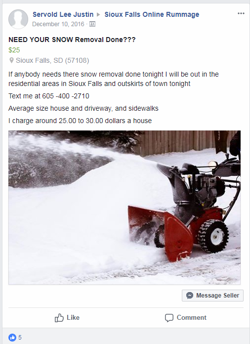Servold Facebook ad