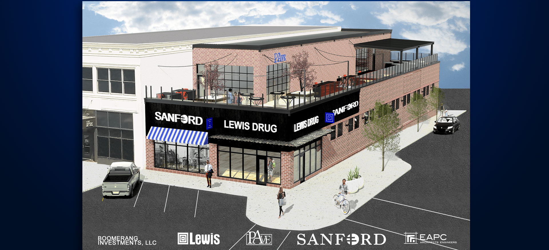 downtown Sioux Falls Lewis store Sanford Acute Care PAve