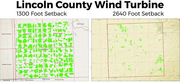 Lincoln County Wind turbine maps