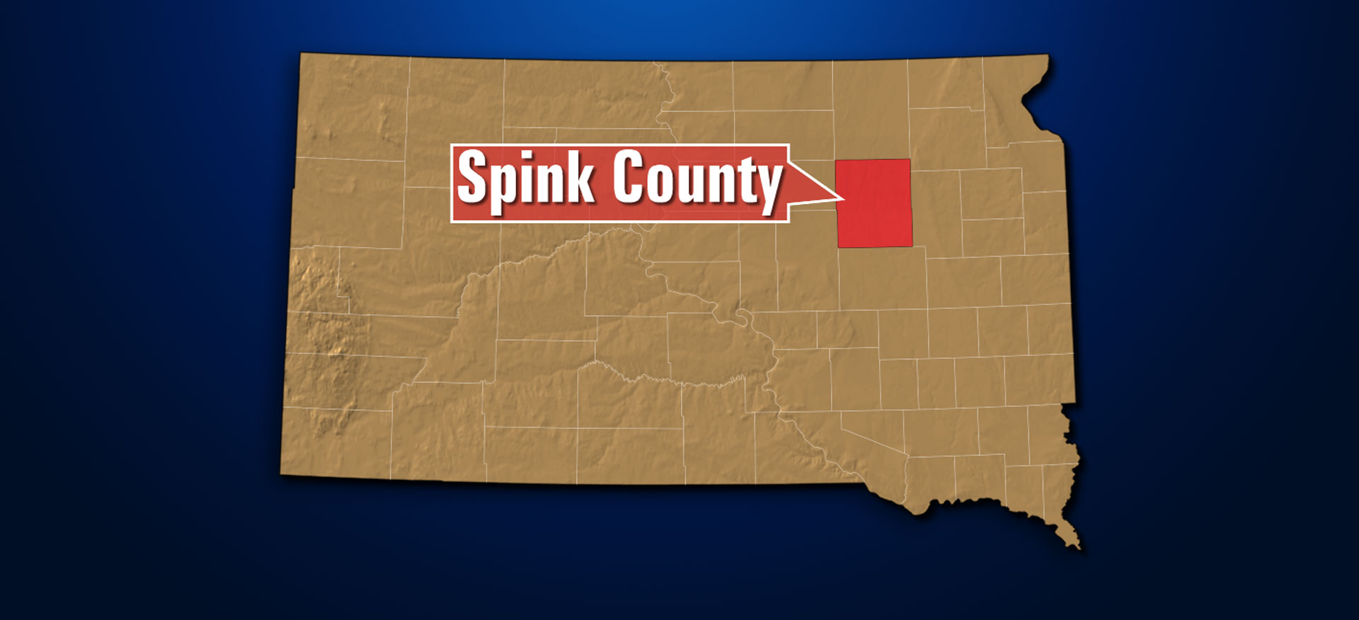 Spink county map