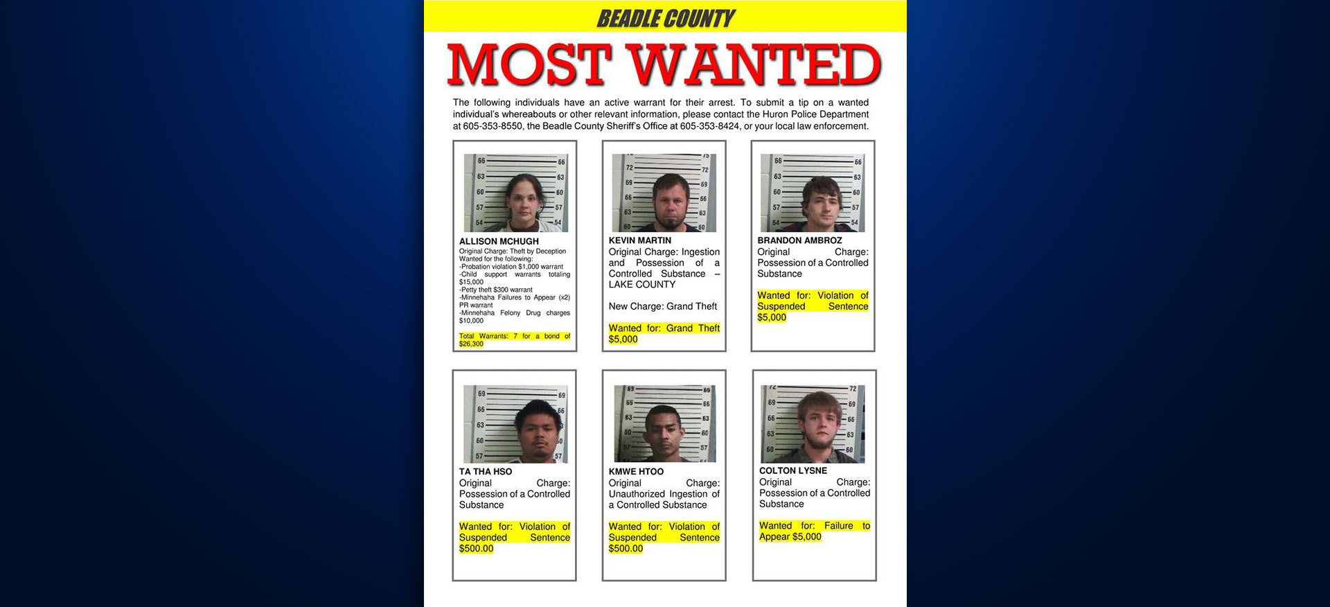 Beadle County Sees Success Sharing 'Most Wanted' List On ...