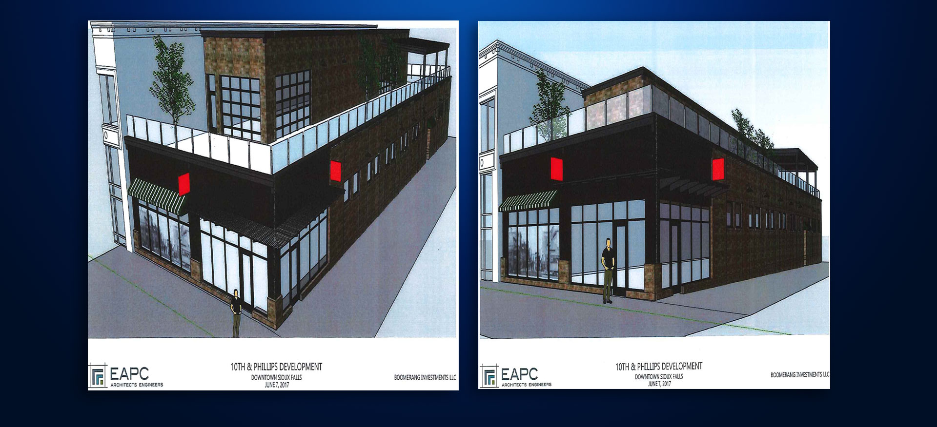 new building renderings old Copper Lounge site