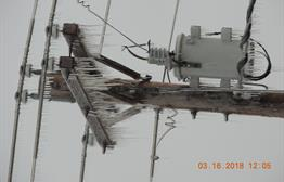 Freezing rain on powerline / transformer