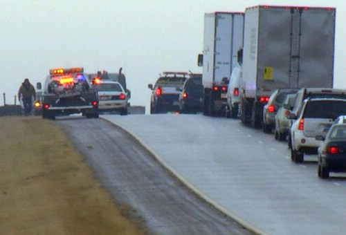 Crews respond to a crash, icy conditions