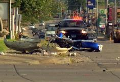 Debris from the crash at 26h & Minnesota