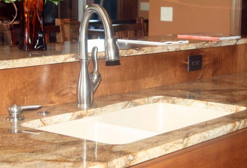 Kitchen counter and sink
