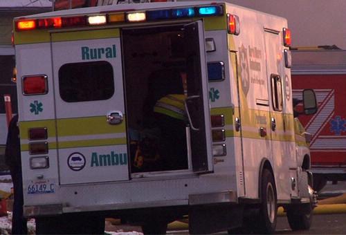 The ambulance on the scene