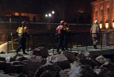 Rescue crews worked throughout the night