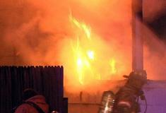 Fire Crews Battle The Flames