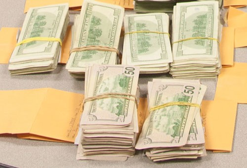 $94,000 in cash was seized