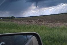 Funnel Cloud SW of Hartford. Spotted at 2:23 pm.