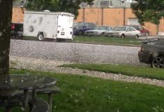 Hail at 49th and Western area