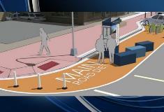 Bumpout concept - Major intersection