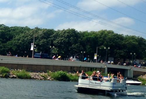 Riders Going Across The Bridge