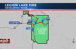 Legion Lake Fire Burns In Custer State Park
