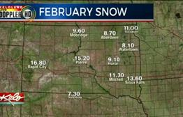 Snowy Month Of February Across KELOLAND