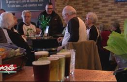 Senior Citizens Celebrate St. Patrick's Day with Pub Crawl, Two Share Special Connection