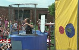 Teachers Take A Splash To Celebrate Attendance